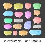 speech bubble cut paper design... | Shutterstock .eps vector #2044855031