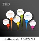 vector dark horizontal... | Shutterstock .eps vector #204492241