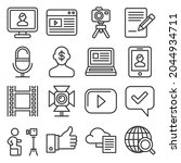 blog and blogger icons set on... | Shutterstock . vector #2044934711