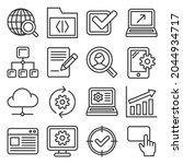 seo and internet icons set on... | Shutterstock . vector #2044934717