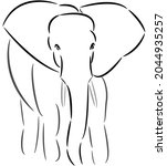 african elephants are the...   Shutterstock .eps vector #2044935257