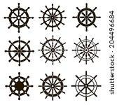 Nine Black Vector Images Marine ...