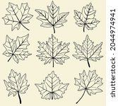 collection of simplicity maple... | Shutterstock .eps vector #2044974941
