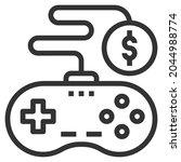control line icon logo vector   | Shutterstock .eps vector #2044988774