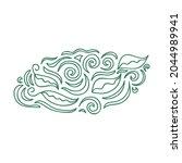 nature decorative element.... | Shutterstock .eps vector #2044989941