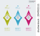 comparative chart with... | Shutterstock .eps vector #204502111