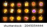 magic game icon set  mobile...