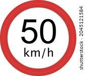vector illustration of traffic... | Shutterstock .eps vector #2045121584