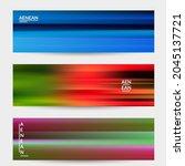 abstract artistic banner vector ... | Shutterstock .eps vector #2045137721