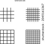 grid icons set isolated on...