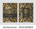 black invitation card design... | Shutterstock .eps vector #2045183804