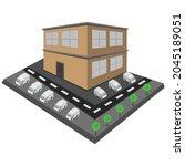 vector isometric building  ... | Shutterstock .eps vector #2045189051