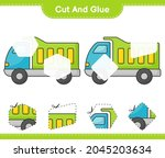 cut and glue  cut parts of... | Shutterstock .eps vector #2045203634