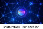 background with a network of...   Shutterstock .eps vector #2045205554