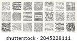 set of hand drawn patterns... | Shutterstock .eps vector #2045228111