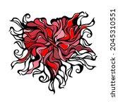 abstract heart vignette pattern.... | Shutterstock .eps vector #2045310551
