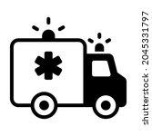 ambulance  emergency black... | Shutterstock .eps vector #2045331797