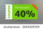 40  coupon promotion sale for... | Shutterstock .eps vector #2045339294