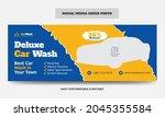 car wash social media cover... | Shutterstock .eps vector #2045355584