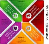 modern creative design template ... | Shutterstock .eps vector #204536431
