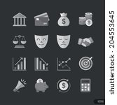 business   finance flat style... | Shutterstock .eps vector #204553645