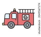 Vector Fire Truck Filled...