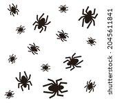 spider icon pattern vector... | Shutterstock .eps vector #2045611841