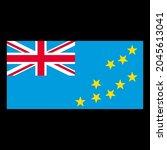 flag of tuvalu vector... | Shutterstock .eps vector #2045613041