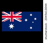flag of australia vector... | Shutterstock .eps vector #2045613044