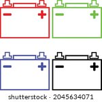 car battery flat vector icon on ... | Shutterstock .eps vector #2045634071