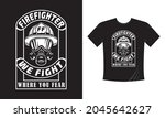tshirt print with firefighters... | Shutterstock .eps vector #2045642627