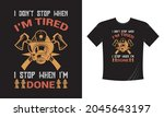 tshirt print with firefighters... | Shutterstock .eps vector #2045643197