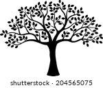tree silhouette | Shutterstock .eps vector #204565075