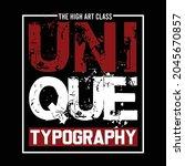 unique typograhy design vector... | Shutterstock .eps vector #2045670857
