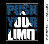 push your limit design... | Shutterstock .eps vector #2045678351