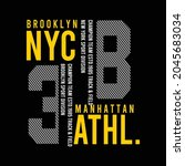 nyc athletic design typography... | Shutterstock .eps vector #2045683034