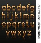 decorative golden alphabet.... | Shutterstock .eps vector #204568447