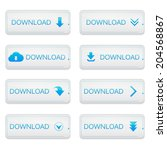 set of buttons download on... | Shutterstock .eps vector #204568867
