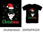 christmas typography vector t...   Shutterstock .eps vector #2045694224