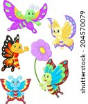 Cute Butterfly Cartoon...