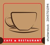 vector design of cafe and...   Shutterstock .eps vector #2045701094