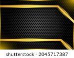 dark layer template gold...   Shutterstock .eps vector #2045717387