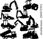 excavator silhouette collection ...