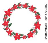 christmas holly berry cute...   Shutterstock .eps vector #2045720387