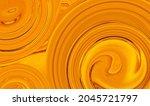 Abstract Bright Luminous Orange ...