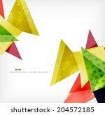 3d geometric shape abstract... | Shutterstock . vector #204572185