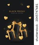black friday sale background...   Shutterstock .eps vector #2045747681