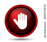 stop icon. internet button on... | Shutterstock . vector #204574915