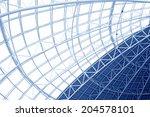 large steel structure truss ... | Shutterstock . vector #204578101