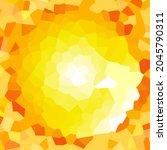 orange abstract background. sun ... | Shutterstock .eps vector #2045790311